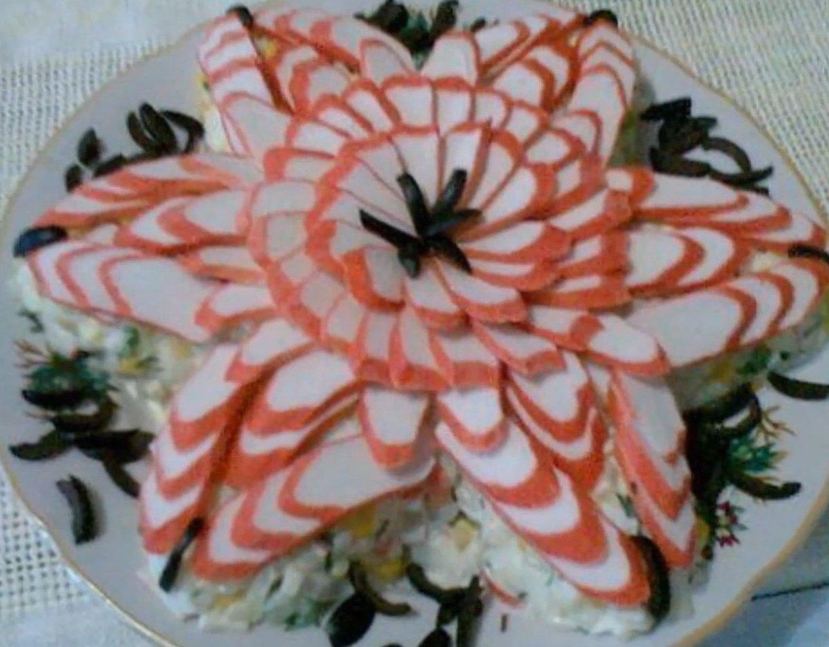Салат морская звезда рецепт с икрой