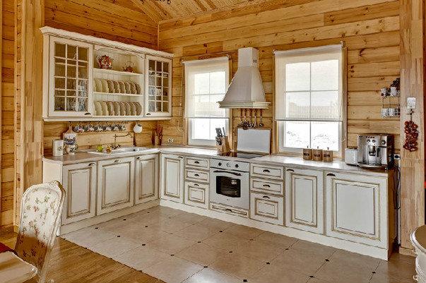 Подборка фото красивых интерьеров кухни в деревянном доме