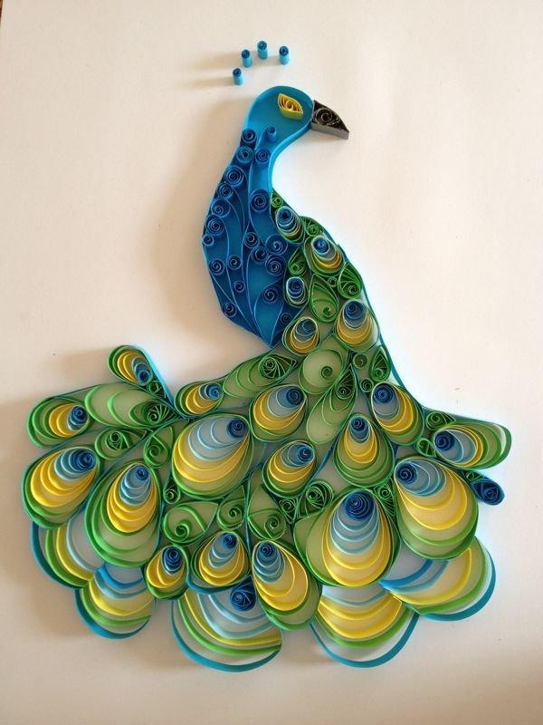 Квиллинг жар птица схемы