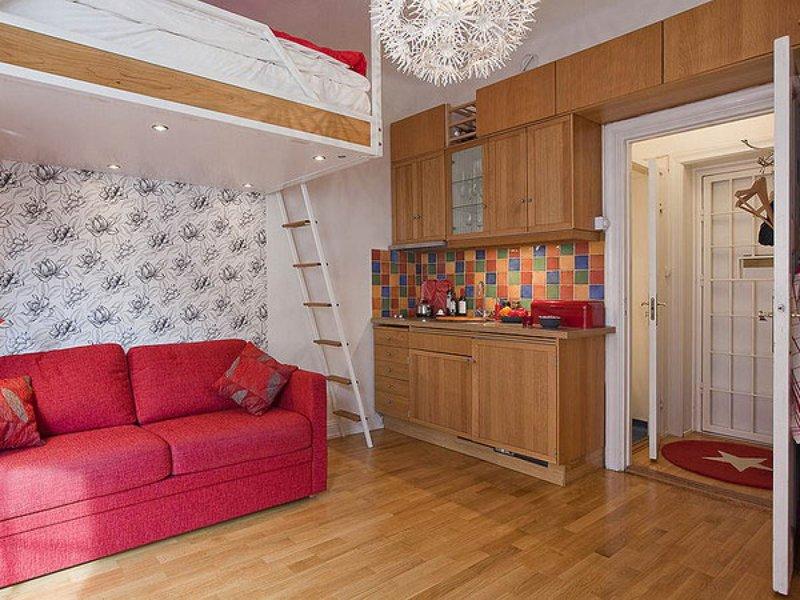 Дизайн комнаты студии 12 кв.м