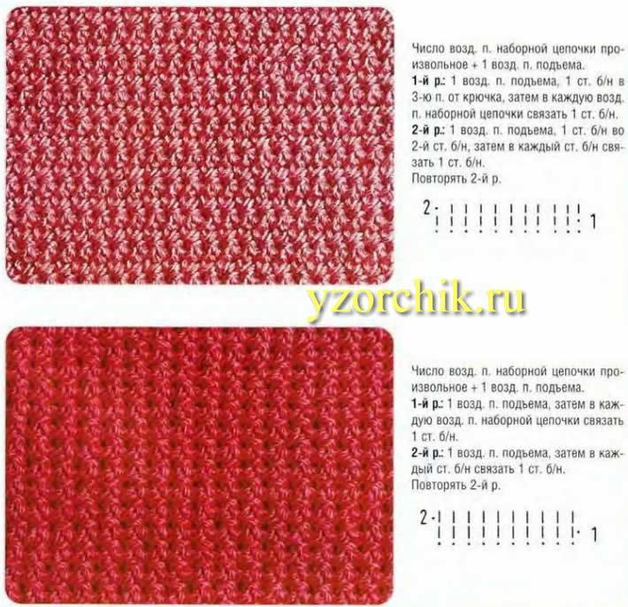 Простые узоры для плотного вязания спицами
