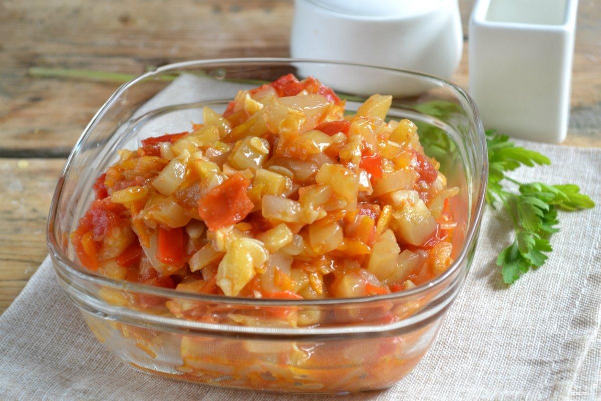 Кабачковая икра рецепт пошагово с помидорами