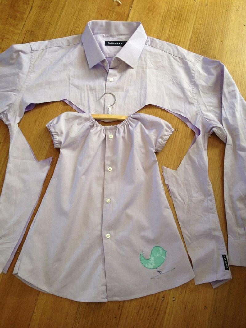 Что сшить для девочки из рубашки своими руками