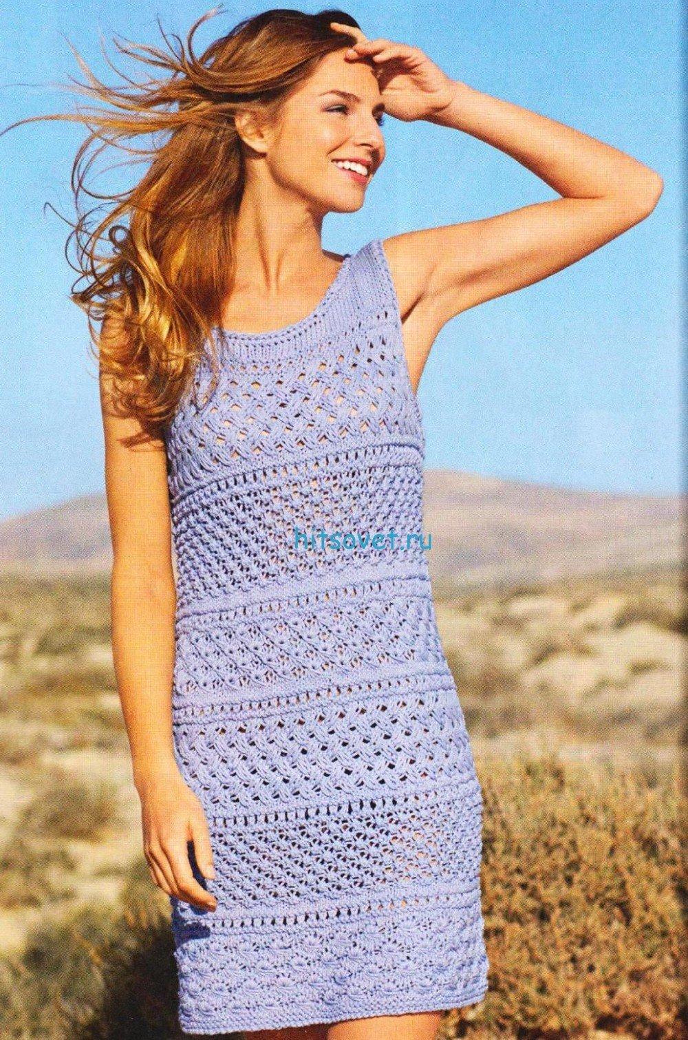 Вязание летнего платья для начинающих