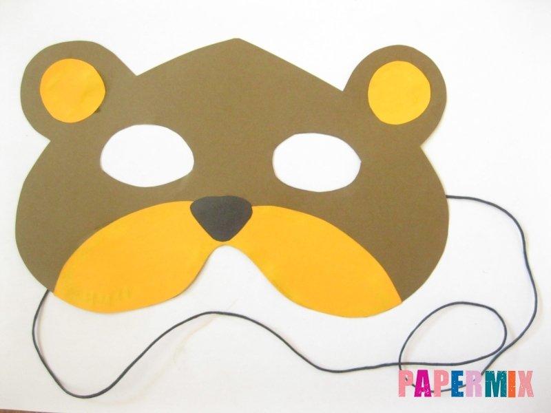 Маска медведя своими руками из бумаги