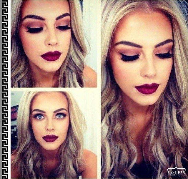 Как краситься блондинке макияж