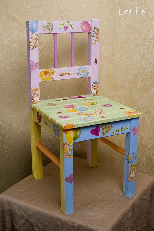 Декор детских стульев своими руками