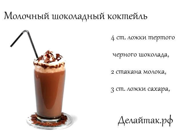 Как сделать молочный коктейль рецепт с фото 878