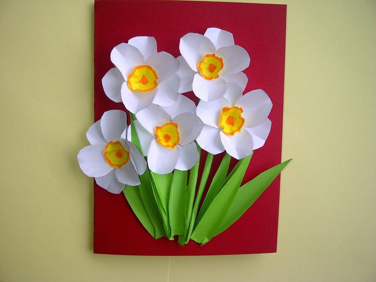 Цветы для мамы своими руками делать ребенку сам8