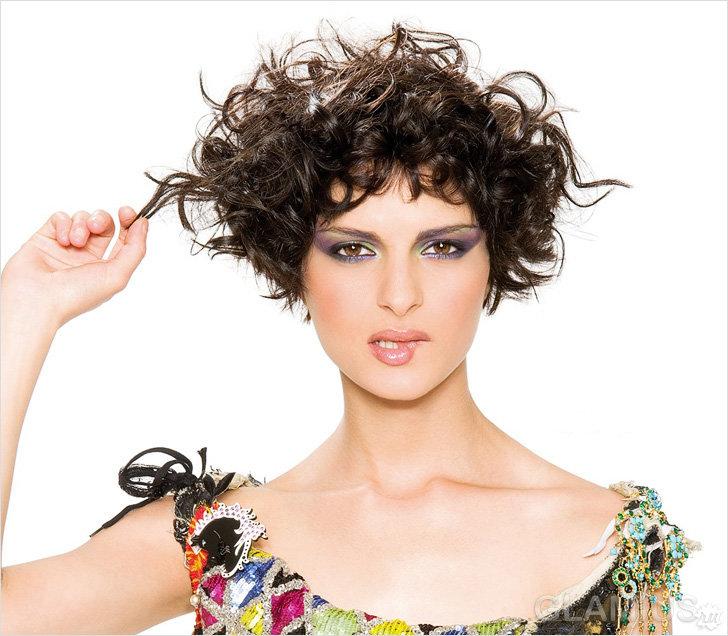 Стрижки стильные женские на вьющиеся волосы женские 2016