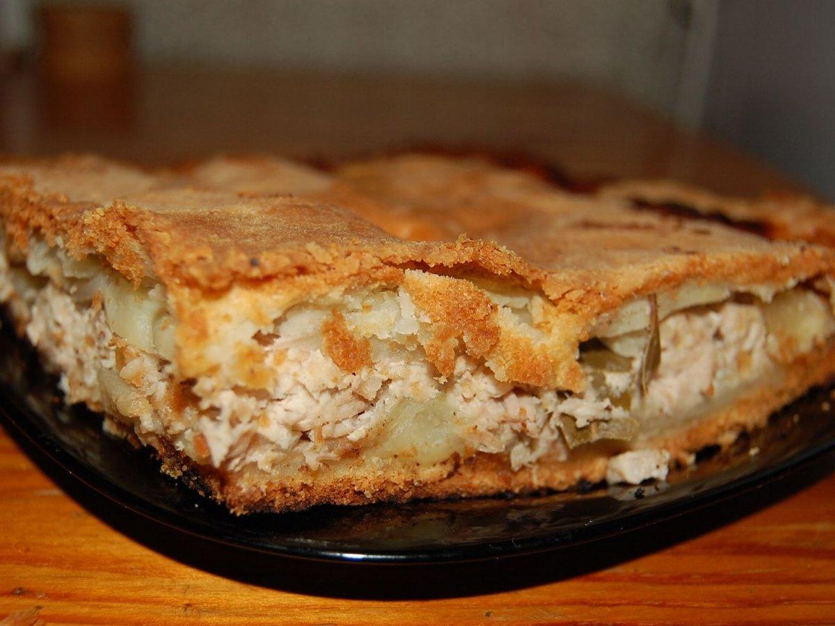 Пирог с картофельного теста с пошаговым фото