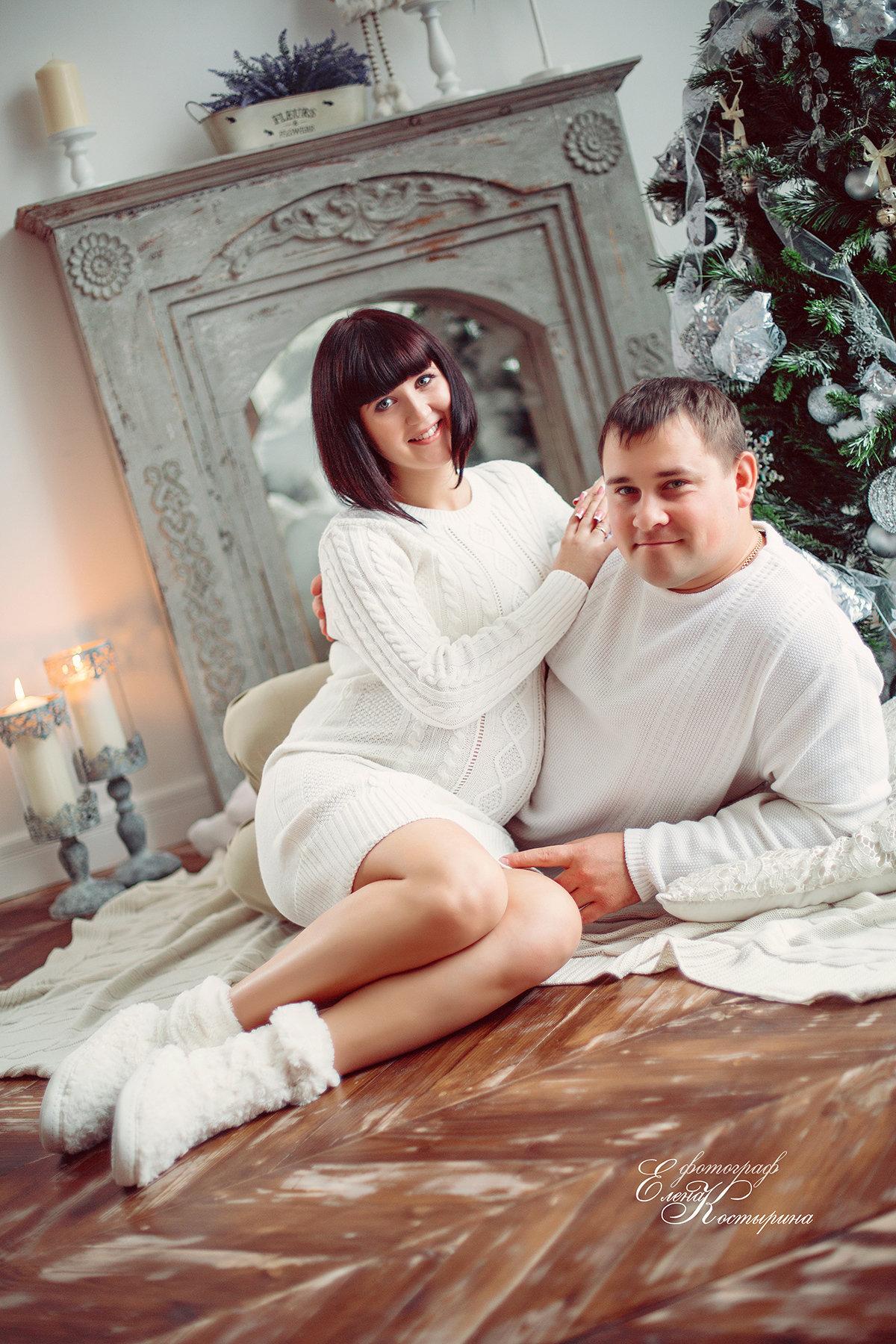 Новогодняя фотосессия беременных фото 566