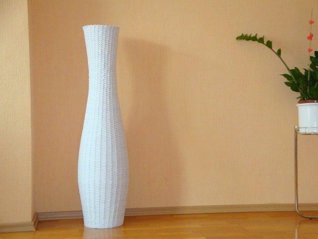 Как сделать из бумаги большую напольную вазу