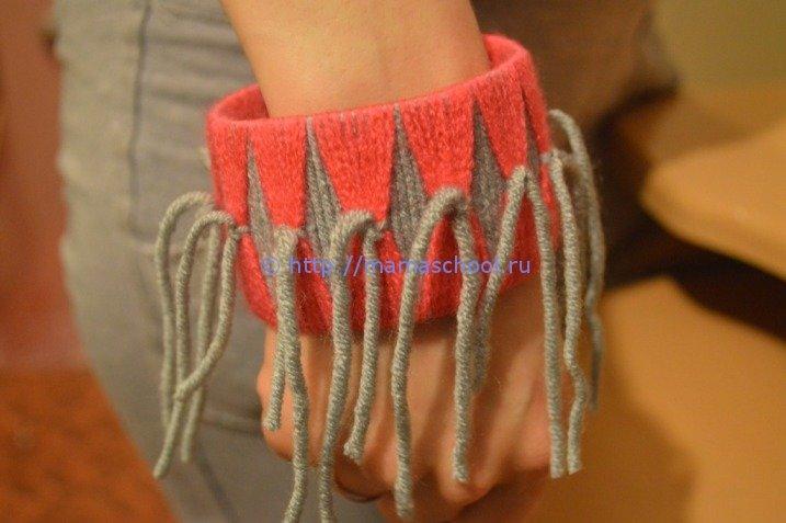 Браслеты из шерстяных ниток своими руками легкие