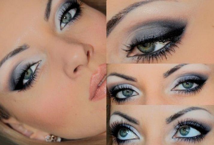 Вечерний макияж для голубых глаз мастер класс