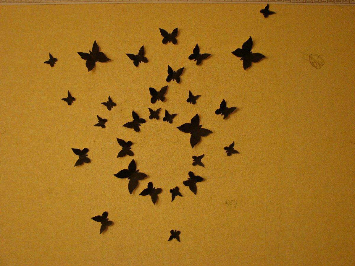 Декор стены бабочка трафарет своими руками