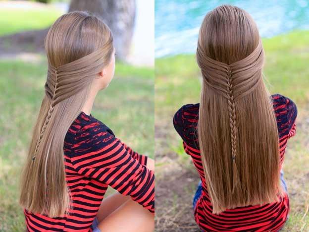 Повседневные прически из длинных волос для девочек фото