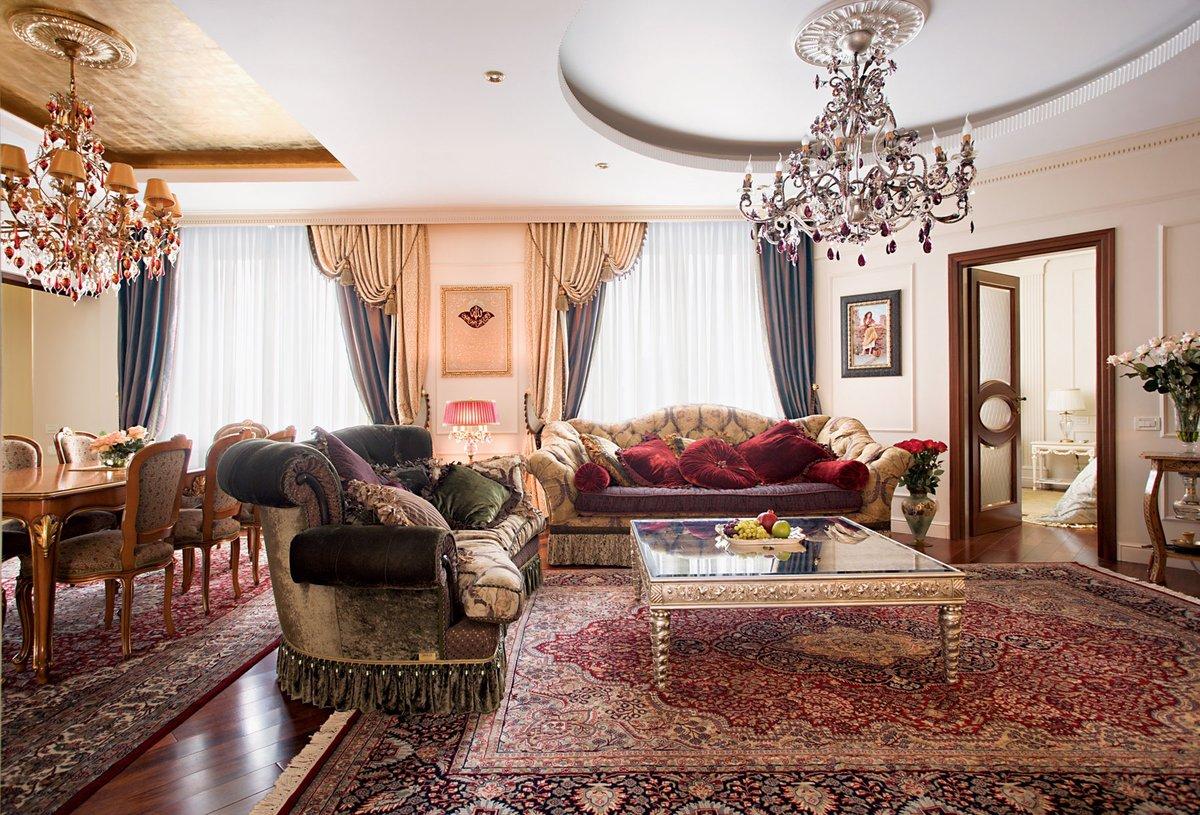 Ковры в интерьере гостиной классика фото