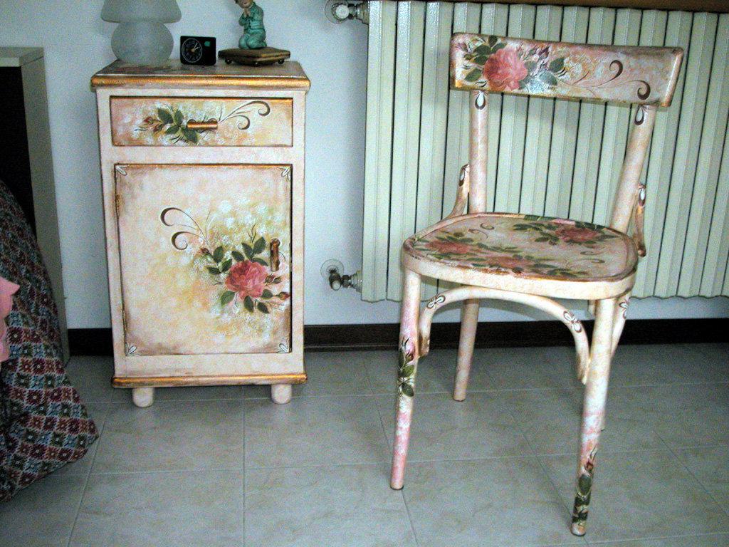 Декупаж лакированной мебели своими руками