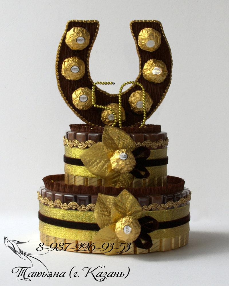 Торт из конфет мужчине своими