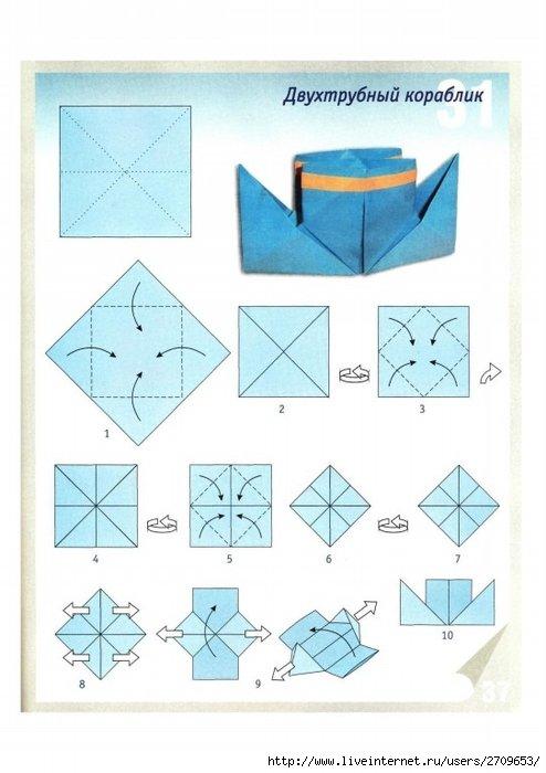сделать кораблик с трубами из бумаги - карточка от пользователя trubitsina-poberezshn.olesya в Яндекс.Коллекциях