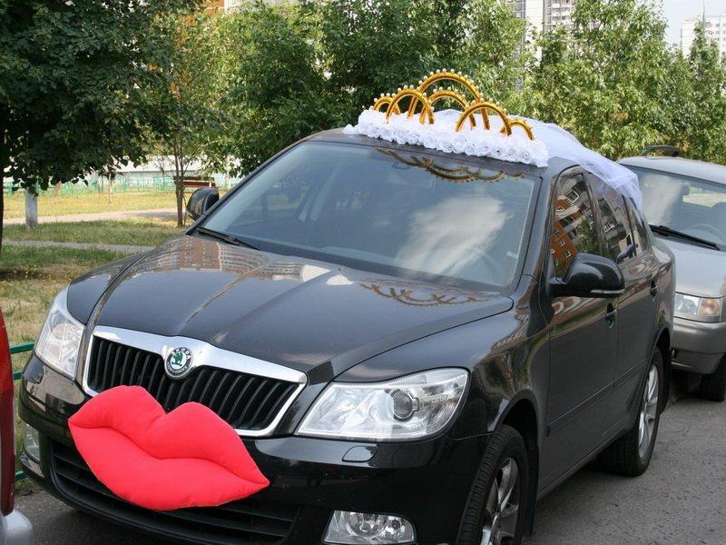 Диадема невесты на машину