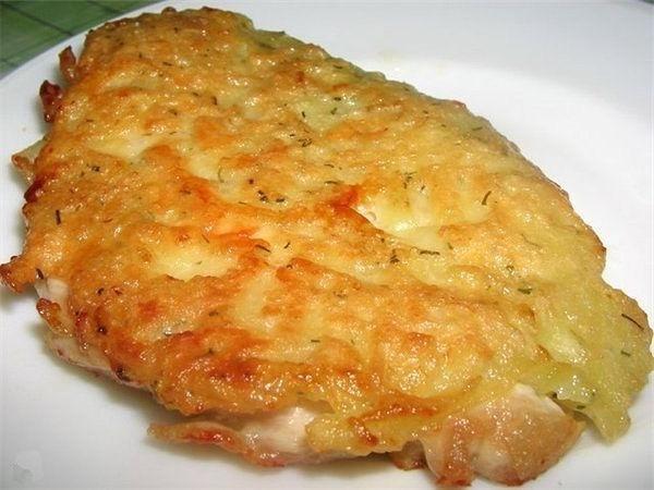 Куриное филе под сыром с помидорами в духовке рецепт пошаговый