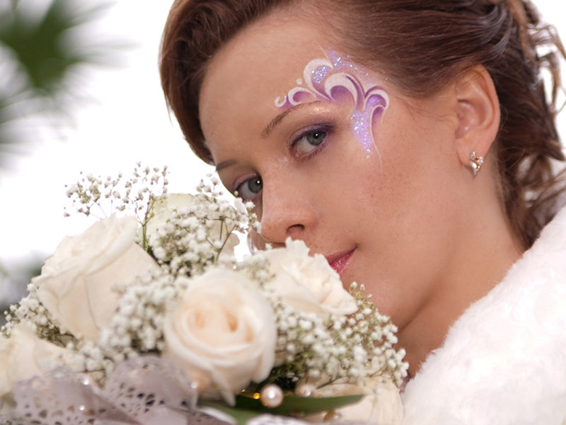 Свадебные креативный макияж
