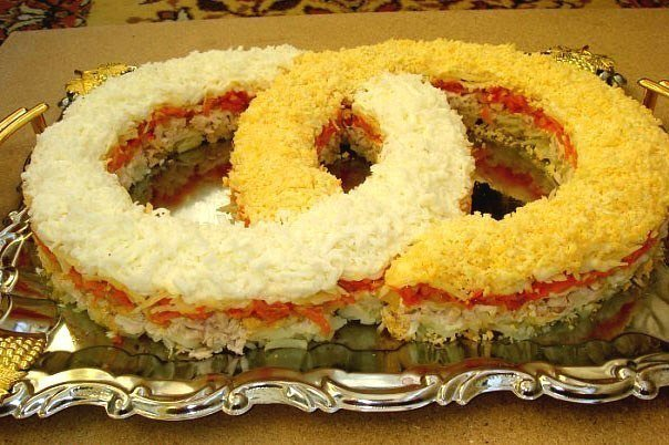Салат обручальные кольца рецепт с фото пошагово