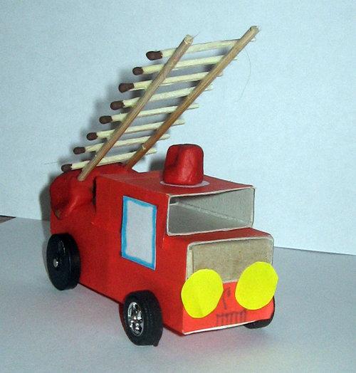 Пожарная машина своими руками в садик