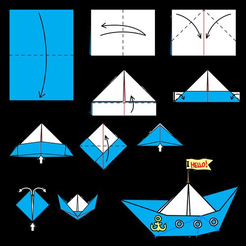 лодка из бумаги животные