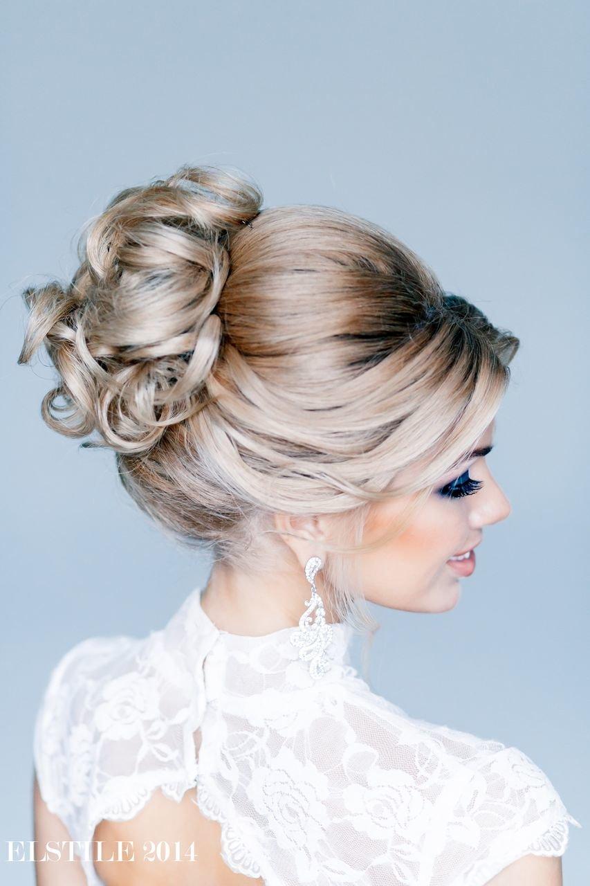 Вечерняя прическа убранные волосы наверх