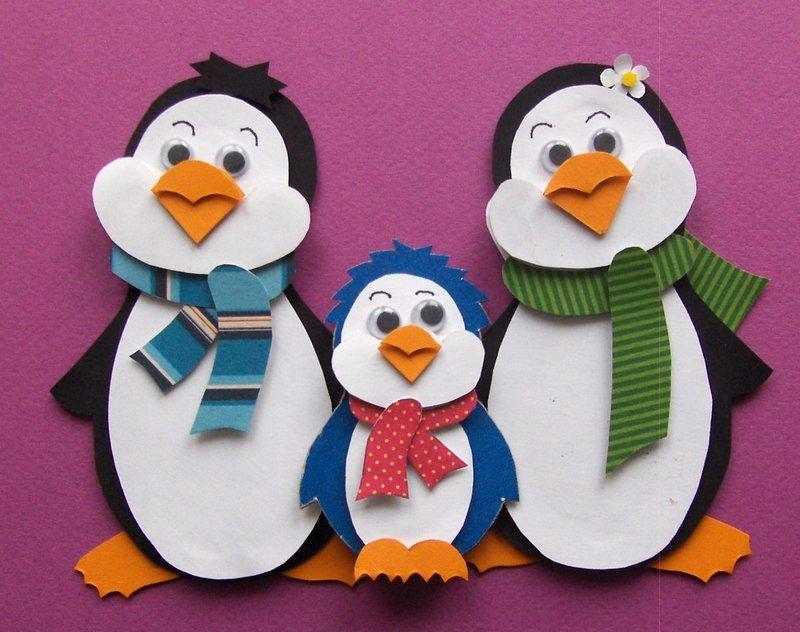 Как сделать своими руками из бумаги пингвина