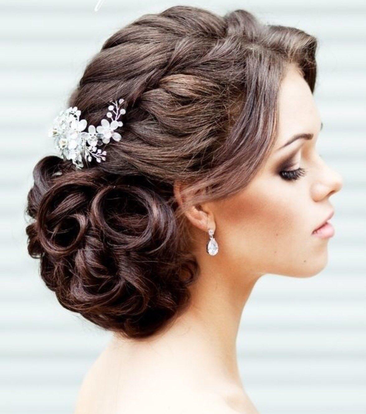 Прически на свадебный вечер фото на длинные волосы