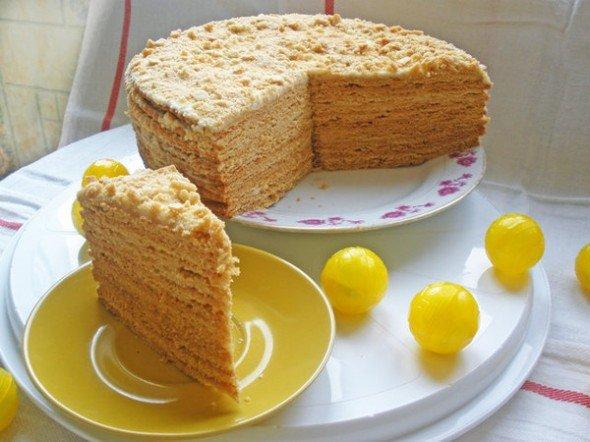 Рецепт медового торта с вареной сгущенкой с пошаговым