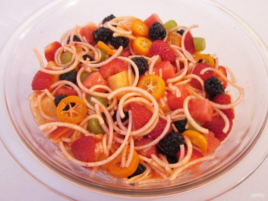 Новые фруктовые салаты рецепты с