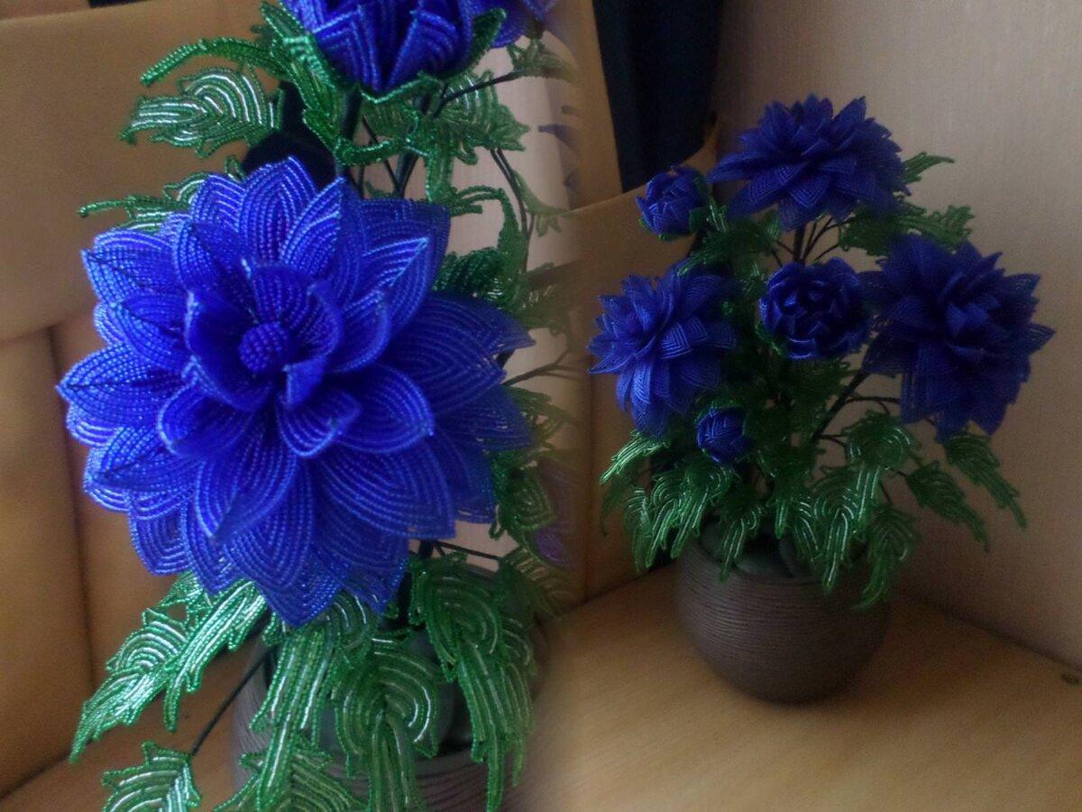 Все синие цветы из бисера 103