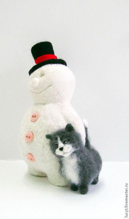 Снеговики из шерсти мастер класс Taksadog.ru