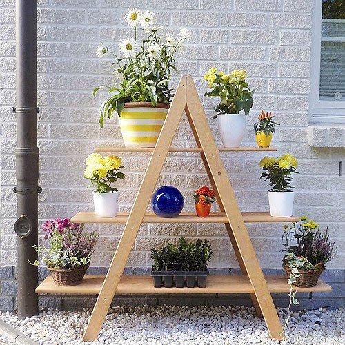 Подставка для цветов своими руками для сада