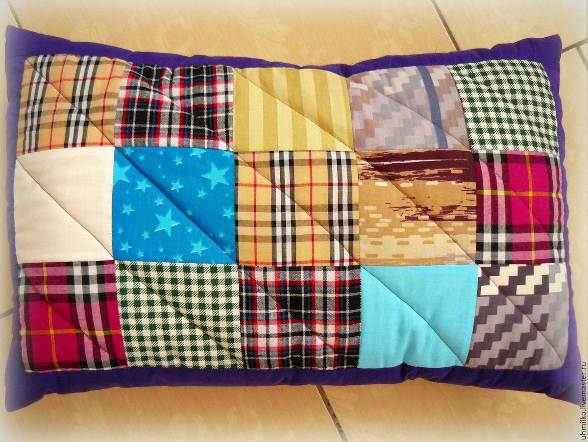 Подушка из квадратов сшить 62
