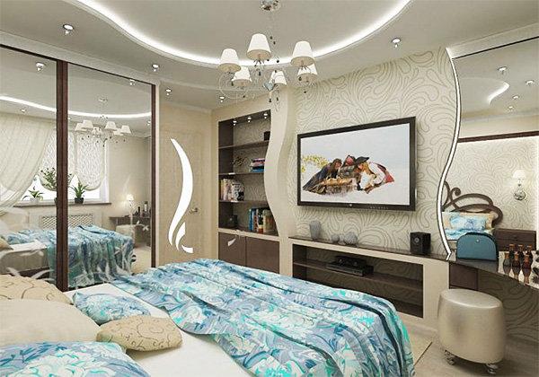 Дизайн на стене из гипсокартона дизайн интерьера