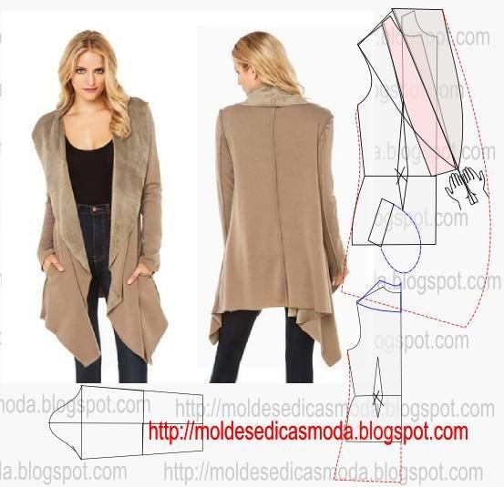 Сшить пальто без застежки без подклада своими руками 56