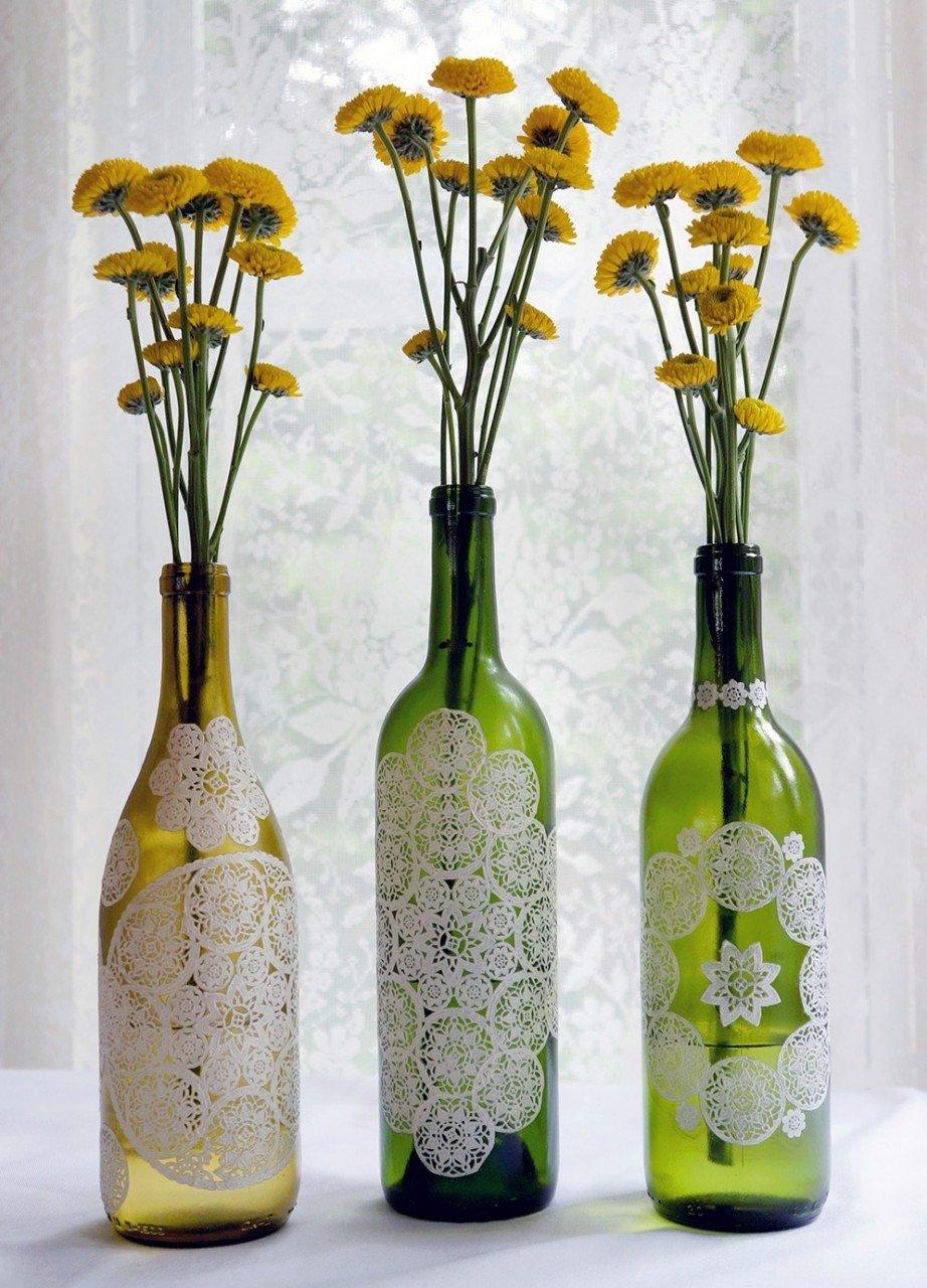 Украшение вазы своими руками декупаж