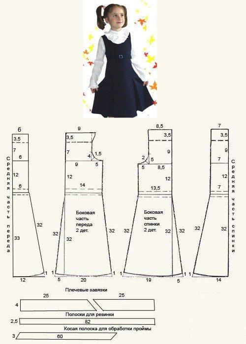 Как сшить сарафан выкройка для девочки