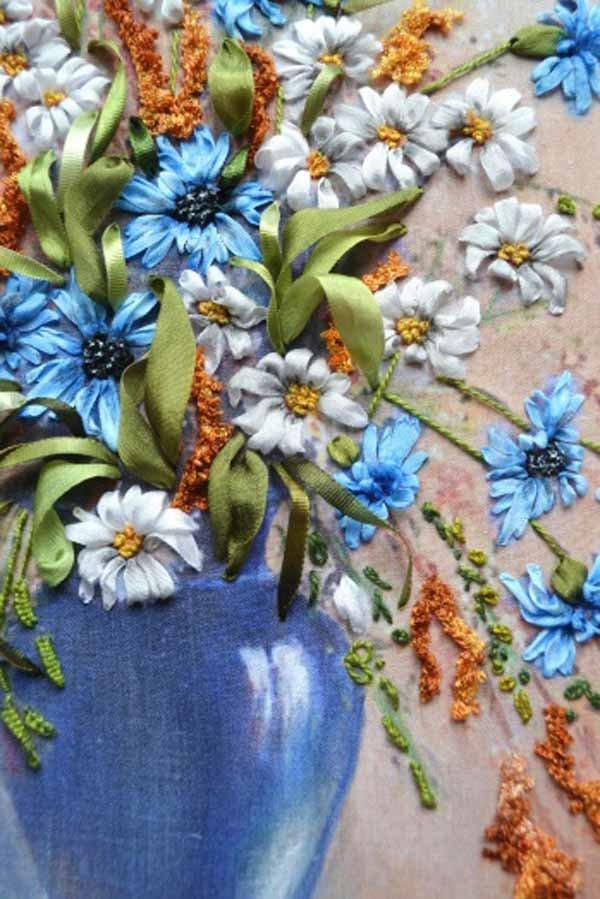 Вышивка шёлковыми ленточками 36
