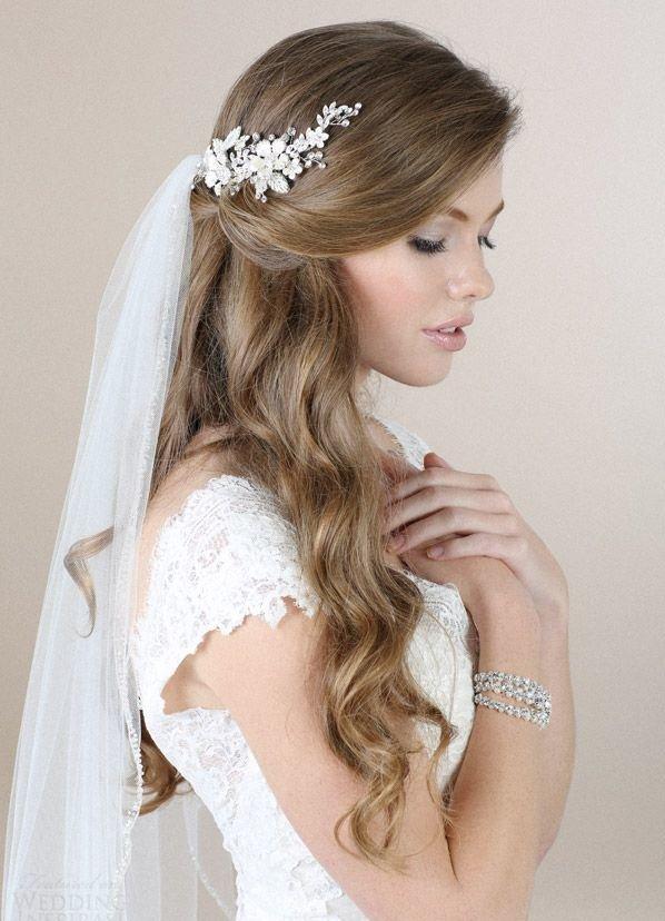 Свадебные прически с распущенными волосами на волосы средней длины