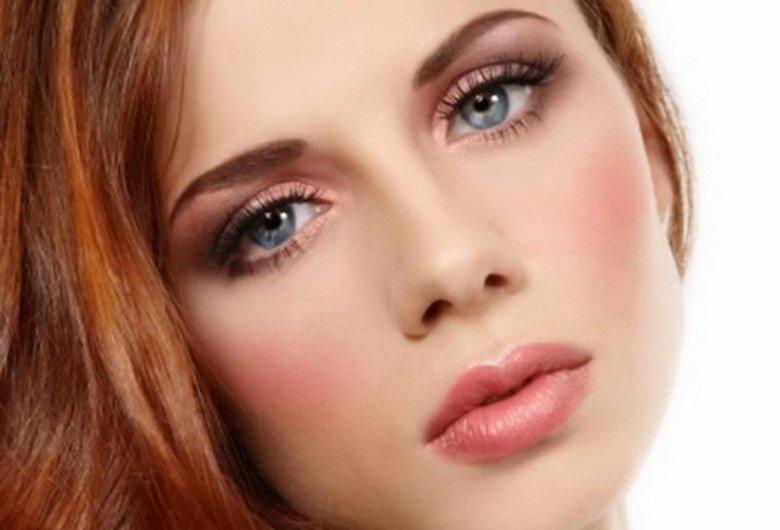 Макияж для рыжих глаз с серо зелеными глазами пошагово