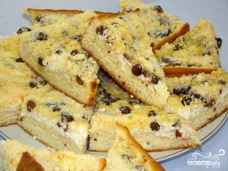 Творожный пирог с изюмом рецепт с