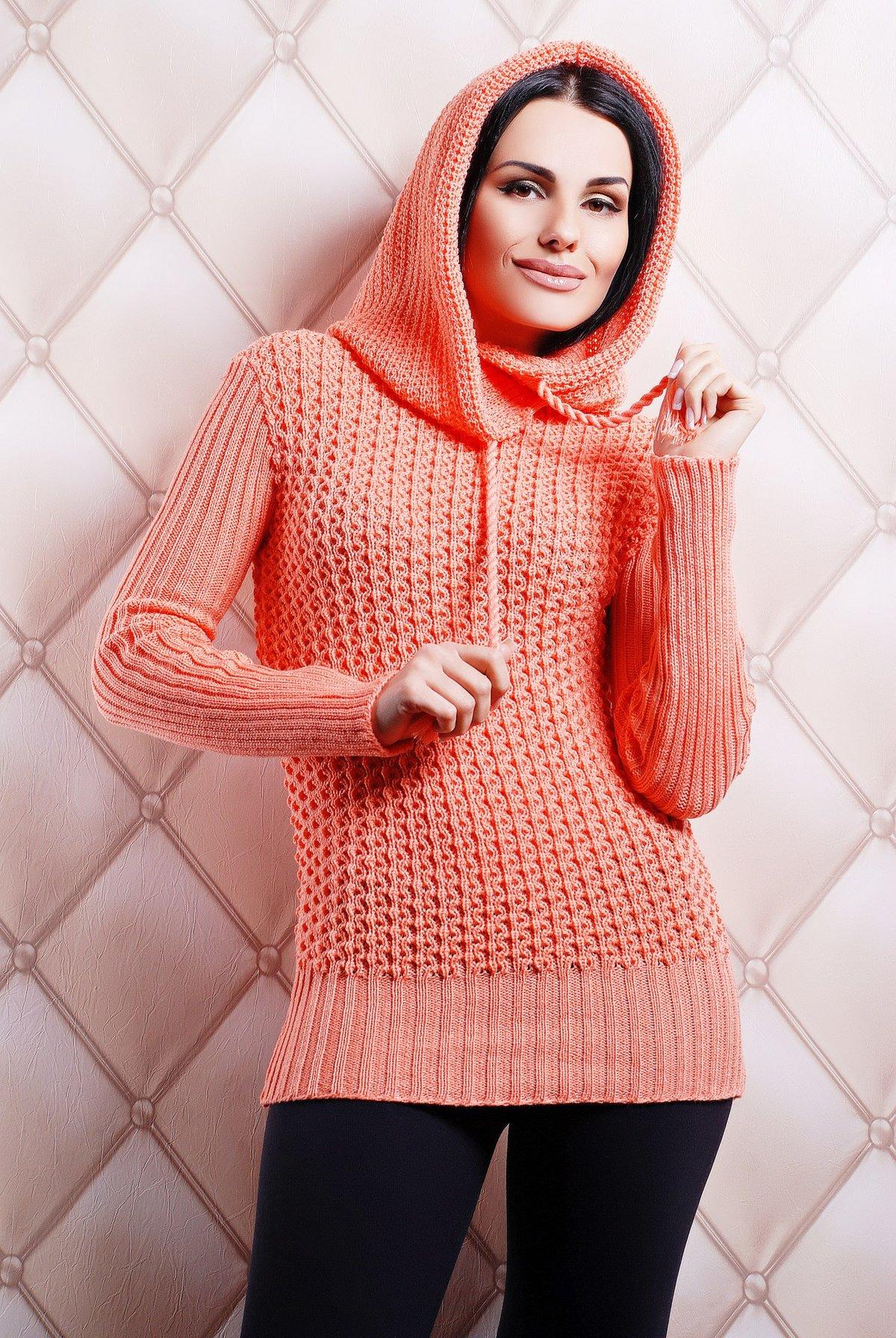Вязание крючком свитер с капюшоном 78