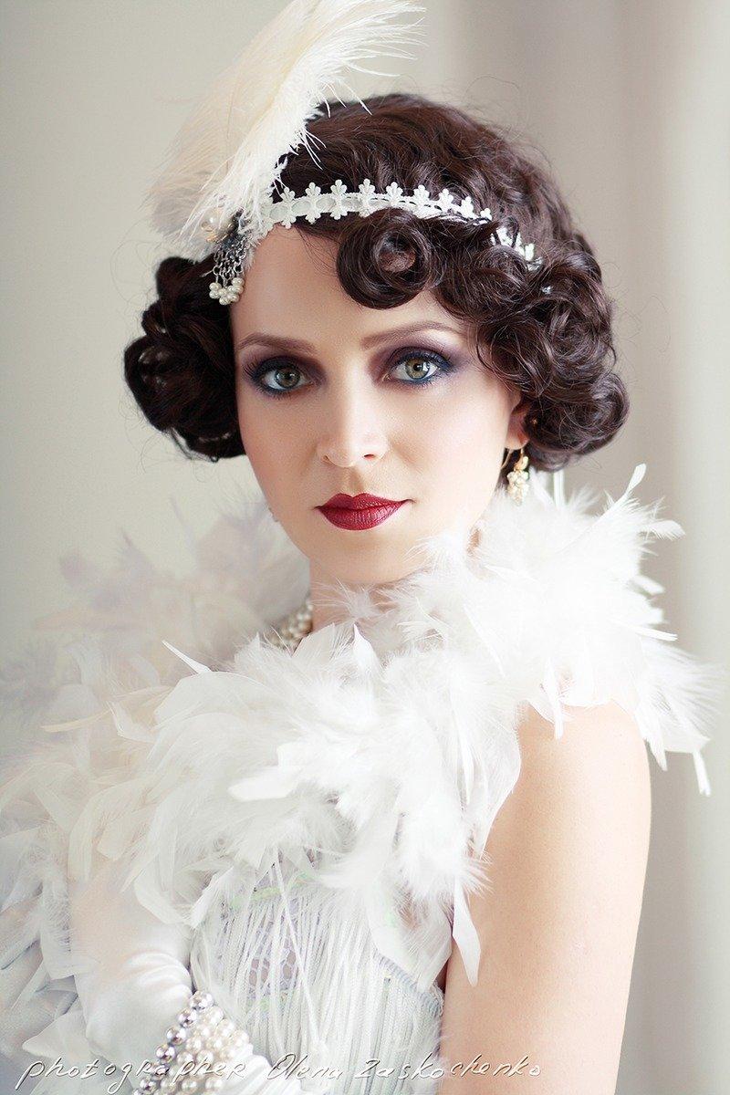 Прически в стиле 30-х годов на средние волосы фото